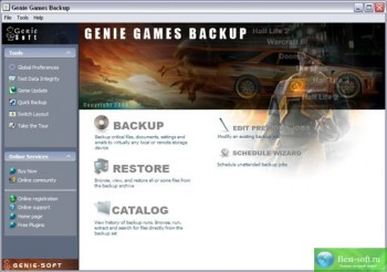 скриншот Genie Games Backup