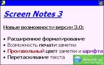 скриншот Screen Notes