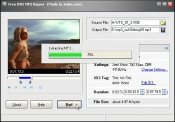 скриншот Free DVD MP3 Ripper