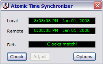 скриншот Atomic Time Synchronizer