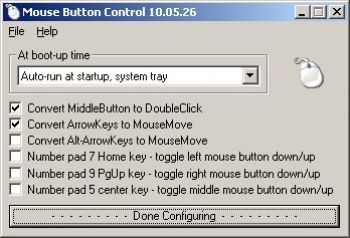 скриншот Mouse Button Control