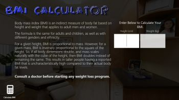 скриншот BMI Calculator RT