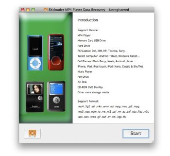 скриншот BYclouder MP4 Player Data Recovery