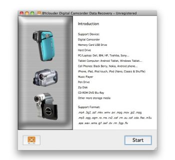 скриншот BYclouder Digital Camcorder Data Recovery
