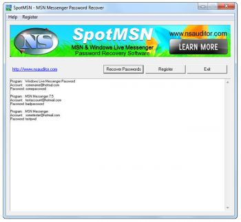 скриншот SpotIM Password Recover