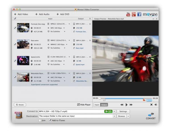 Club.CNews.ru: Movavi Конвертер Видео для Mac OS X получил сверхбыструю кон