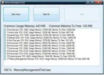 скриншот Memory Management ActiveX