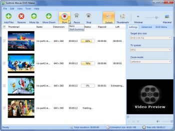 скриншот Free Movie DVD Maker