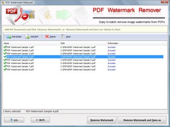 скриншот Remove Watermark from PDF