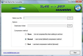 скриншот Free ZIP to RAR Converter