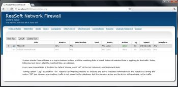 скриншот ReaSoft Network Firewall