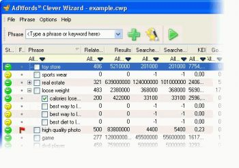 скриншот AdWords Clever Wizard