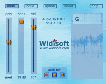 скриншот Audio To MIDI VST