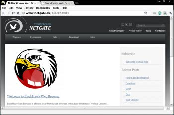 скриншот BlackHawk Web Browser