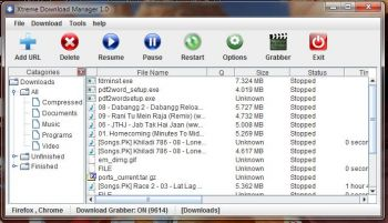 скриншот Xtreme Download Manager