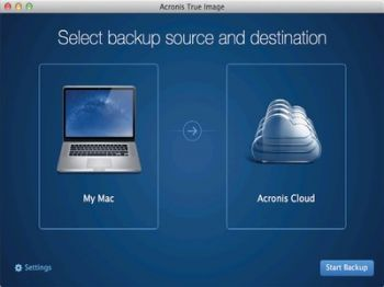 скриншот Acronis True Image 2015 for Mac