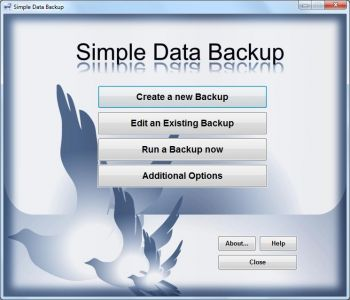 скриншот Simple Data Backup