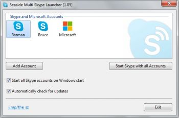 скриншот Seaside Multi Skype Launcher