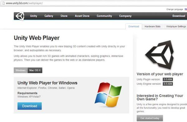 Unity web player скачать бесплатно