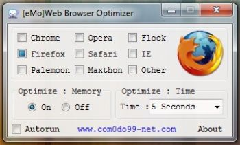 скриншот eMo Web Browser Optimizer
