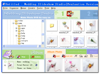 скриншот Wedding Slideshow Studio