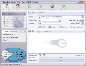 скриншот Free Easy CD DVD Burner