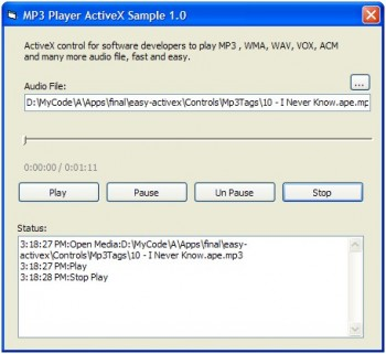 скриншот MP3 Player ActiveX (OCX)