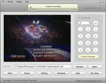 скриншот Lenogo TV to iPod VIDE0 Transfer