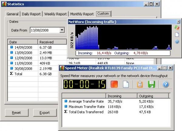 NetWorx - Текущая сборка универсальной программы для контроля интернет