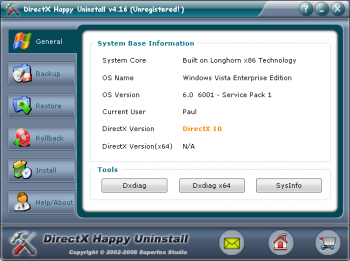 скриншот DirectX Happy Uninstall