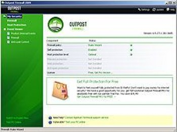 скриншот Outpost Firewall Free 2009