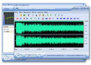 скриншот Focus Mp3 Recorder Pro