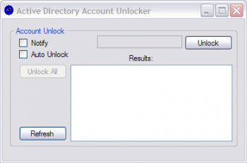 скриншот Active Directory Account Unlocker