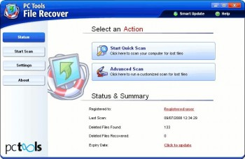 скриншот Pc Tools File Recover