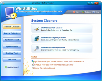 скриншот WinUtilities