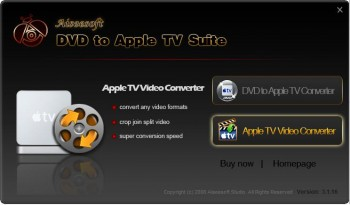 скриншот Aiseesoft DVD to Apple TV Suite