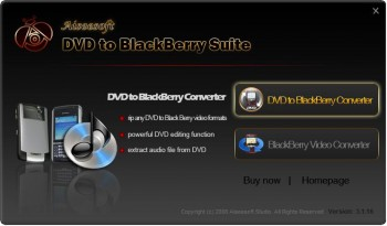 скриншот Aiseesoft DVD to BlackBerry Suite