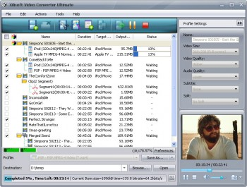 скриншот Xilisoft Video Converter