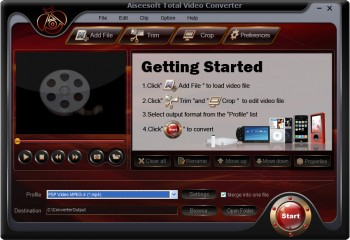скриншот Aiseesoft Total Video Converter