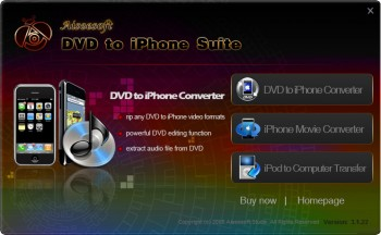 скриншот Aiseesoft DVD to iPhone Suite