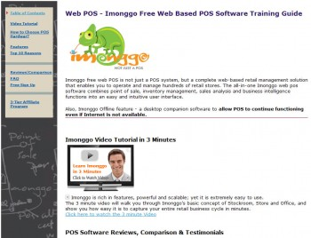 скриншот Imonggo Free Web POS Software (Web Based POS) Training Guide