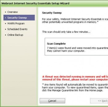 скриншот Webroot Internet Security Essentials