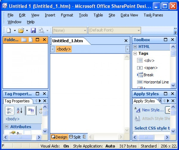 Microsoft Office SharePoint Designer 2007.