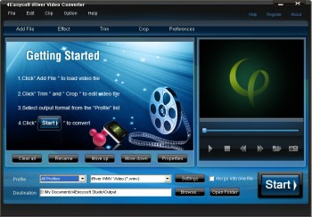 скриншот 4Easysoft iRiver Video Converter