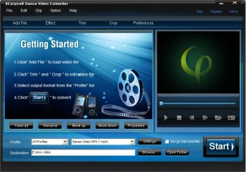 скриншот 4Easysoft Sansa Video Converter