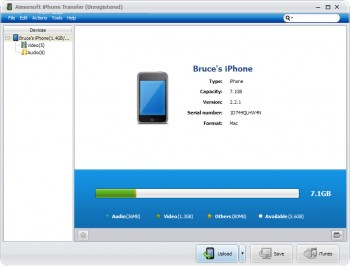 скриншот Aimersoft iPhone Transfer