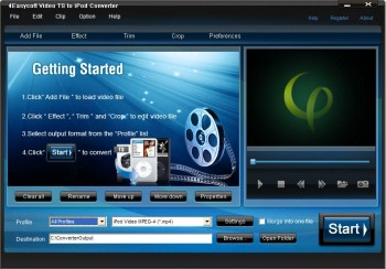 скриншот 4Easysoft Video TS to iPod Converter
