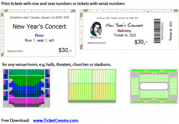 скриншот TicketCreator - Print Your Tickets