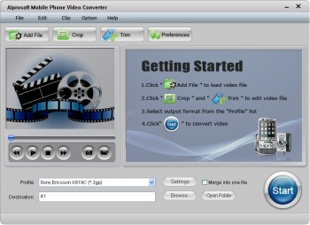 скриншот Aiprosoft MOV Video Converter