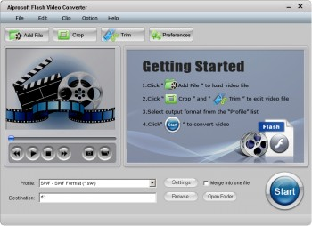 скриншот Aiprosoft Flash Video Converter